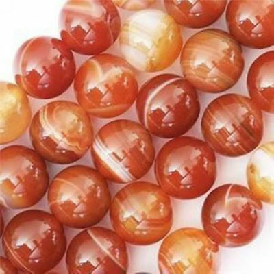 6mm red stripe Agate Onyx Round Gemstone Loose Bead 15''AAA ##ZY