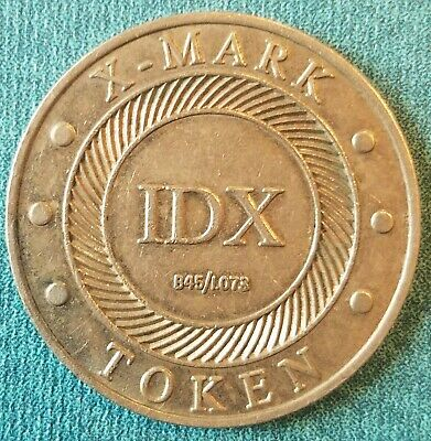 Lot of 10 Ribbed Edges IDX X-Mark 0.984//A075  High Security Vending Tokens