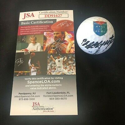 Colin Montgomerie Signed World Golf Hall Of Fame Ball Autograph Jsa Coa