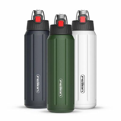 Sports Bottle Thermal Water Stainless Steel Vacuum Insulated Flask Bike Cycling