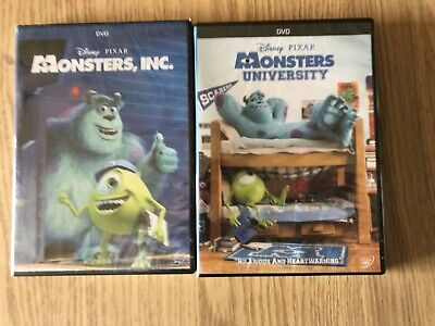 Monsters Inc and Monsters University Disney Pixar 2-Movie DVD Bundle New!