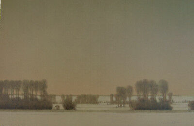 RUSSELL CHATHAM Valley Of The Madison In Winter Signed Lithograph