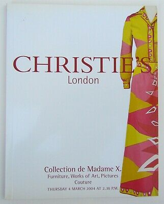 Madame X Collection Furniture Art Couture 2004 Christie's Auction Catalog
