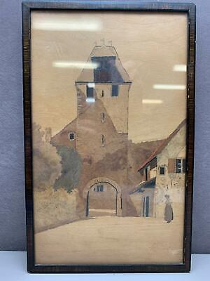 Framed Numbered Signed Painting by Listed Artist Charles Spindler