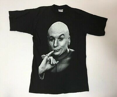 489267363e29de Vintage 90s 1998 DR. Evil Austin Powers Promo Movie Black Shirt M Mike Myers