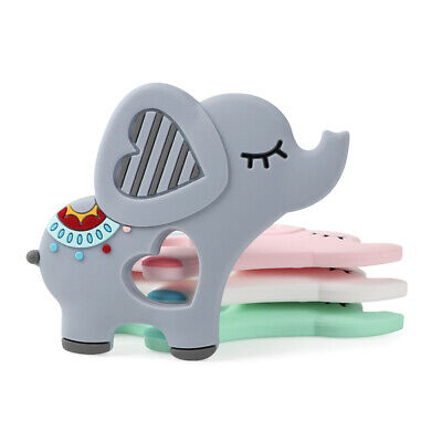 Cartoon Elephent Baby Teether Silicone Soother Chewable Teething Toy Pendant