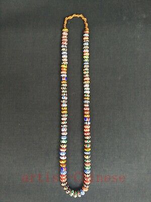 Collection Old China Tibetan Colourful Coloured Glaze Prayer Beads Hand Chain