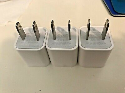 3x 3 Pcs Lot Pack NEW Apple iPhone USB Power Wall OEM Charger Adapter X/8+/7/SE