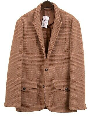 Polo Ralph Lauren Brown Tweed Unlined Unstructured Casual Blazer Coat Jacket 42L
