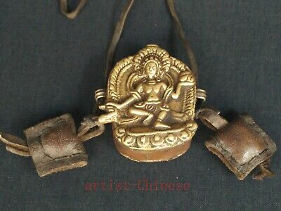 Collection Chinese Tibet Old Copper Carving Buddha Statue Boxes Amulet Pendant