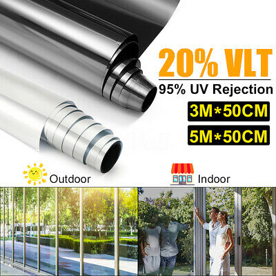 "UV Uncut Roll Window Tint Film 15~22% VLT 20""x 3.3ft/10ft /20ft Car Home Glass"