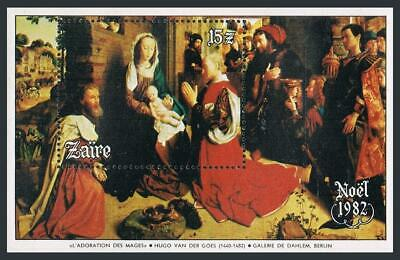 Zaire 1101,MNH.Michel Bl.45. Christmas 1982.Adoration of the Magi,Van der Goes.