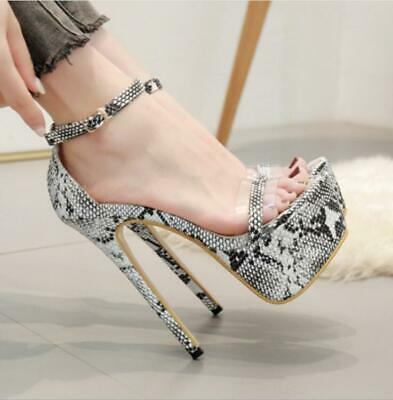 Womens High Heels Stiletto Sandals Platform Ankle Strap Ladies Party Shoes Sexy