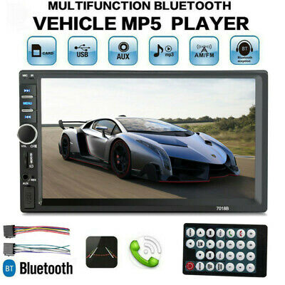 7 Inch 1080P DOUBLE 2DIN Car MP5 Player BT V2.0 Touch Screen Stereo Radio HD