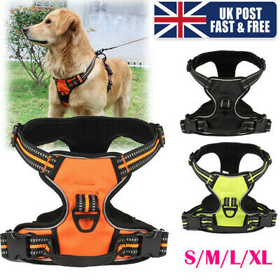 No-pull Dog Pet Harness 3M Reflective Vest Padded Handle Outdoor Adventure UK