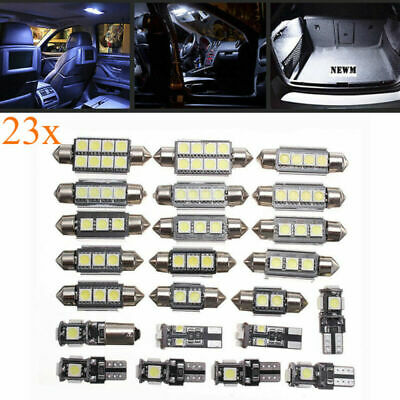 23X LED White Car Dome Interior Lights Trunk Mirror License Plate Lamps Bulbs