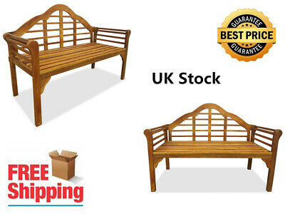 2-seater Brown Garden Patio Bench Made of Solid Acacia Wood 135 x 55 x 95 cm