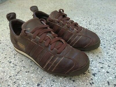 ADIDAS Brown Distressed Leather CHILE 62 Trainers Retro Size FR 42 UK 8 SU171133   eBay