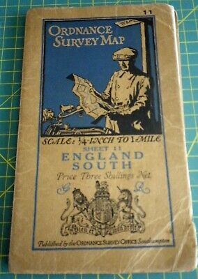 VINTAGE ORDNANCE SURVEY MAP - SOUTH ENGLAND Sheet 11 1931