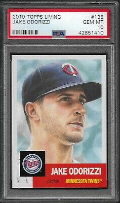 2019 Topps Living Set # 138 JAKE ODORIZZI GEM Mint PSA 10 Minnesota Twins