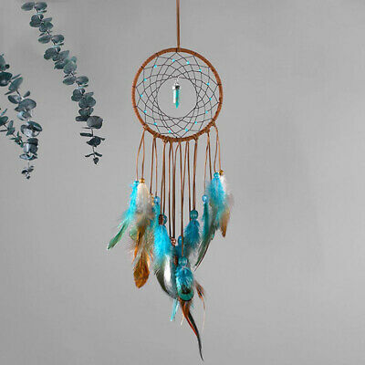 Circular Dream Catcher with Feather Gift Wall Window Hanging Ornament Decorate