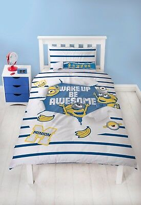 Official Despicable Me Minions Single Duvet Quilt Cover Set Boys Girls Kid Bed