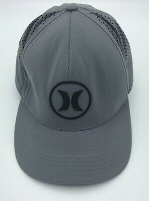 ba997538 Hurley Icon 4.0 Hat Nike Dri-FIT Men's Gray Charcoal Adjustable Snapback Cap  A8