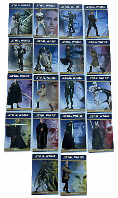 Star Wars Attack Of The Clones 2002 New Zealand Cheese Trading 18 Card Set 2002