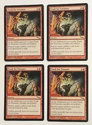 4X Trash For Treasure Mirrodin Red Sorcery Magic The Gathering Mint & Unplayed