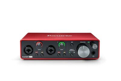 Focusrite Scarlett 2i2 USB Audio Interface, 3rd Gen