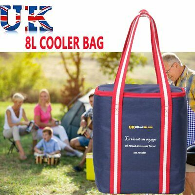 Extra Large 8L Insulated Cooler Cool Bag Box Picnic Camping Food Drink Ice