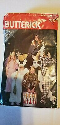 Butterick Halloween Costumes Sewing Patterns Girl's 3 To Misses 18 Clown Bunny