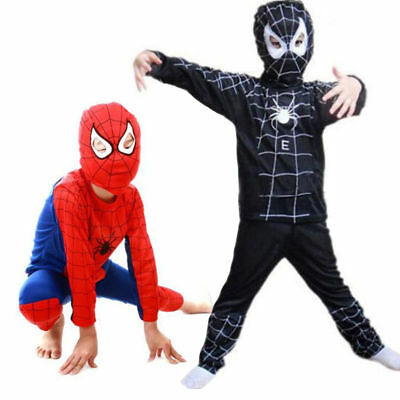 Children Kid Boy Spiderman Costume Cosplay Cartoon Fancy Dress Outfits with Mask