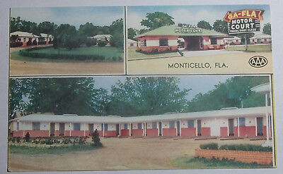 POLICE FIRE DEPARTMENT Monticello New York 1960s postcard
