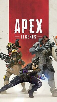 "Apex Legends Black Background Poster 24x36"" or  27""x 40"""