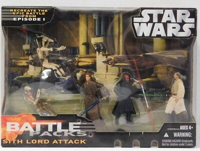 Star Wars Battle Pack Sith Lord Attack EP 1 Maul Qui-Gon  Kenobi Battle droids