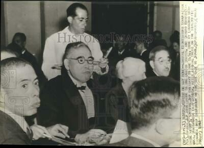 1942 Press Photo Japanese officials at dinner before trip home, East Africa