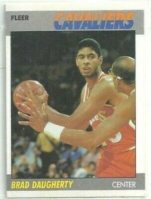 0ed7169a32acd 1989-90 FLEER BASKETBALL Brad Daugherty Cleveland Cavaliers #25 ...