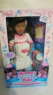 MOMMY'S HAVING A BABY Doll by Tyco African American 18 Inches Tall