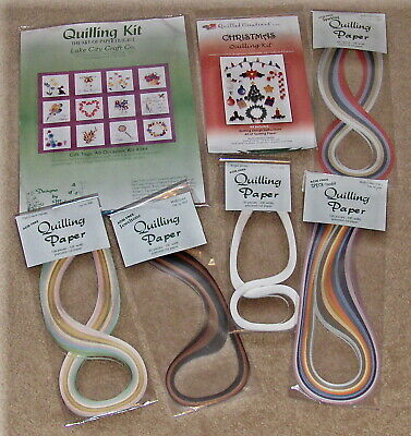 Craft Assorted Lot QUILLING Kits & QUILLING Paper ..New