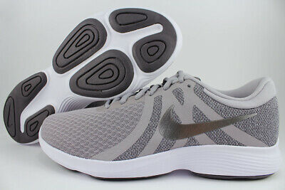Nike Revolution 4 Extra Wide 4E Eeee Gray/metallic Pewter/white Running Men Size