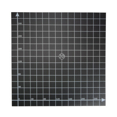 Square Scrub Surface Hot Bed Sticker Sheet with 1:1 Coordinate for 3D Printer