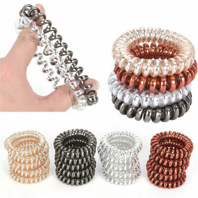 12X Rubber Telephone Wire Hair Ties Spiral Slinky Hair Head Elastic Bands Gifts