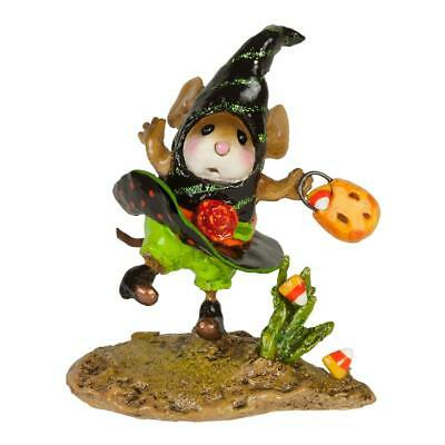 Wee Forest Folk WICKED WINDY, WFF# M-646, Witch Halloween Mouse Retired