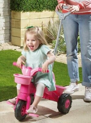 c52981c371b Nearly New Dolu Pink My First Trike Girls Toddler Bike Parent Handle Pedals