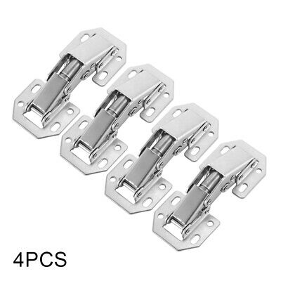 4 x Cabinet Hinges No-Drilling Hole Bridge Shaped Spring Hinge 4 Inches HS1261