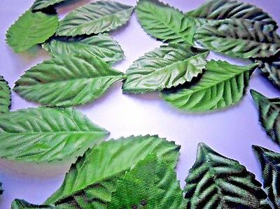 100 Slim  Silk Rose Leaves Dark Green/Table/ Decoration/Craft/Costume