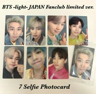 BTS Official Photocard Lights/Boy With Luv Japfan Fanclub limited ver Jungkook