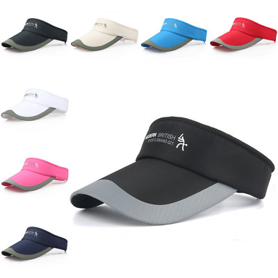 Summer Adjustable Tennis Sports Cap Sun Visor Golf Cap Headband Hat Vizor