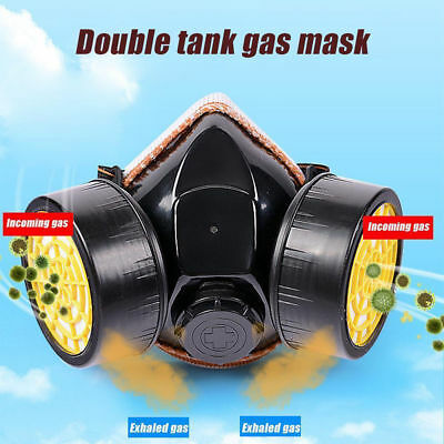 Gas Mask Part Facepiece Respirator For Emergency Survival Paint Face Double Can